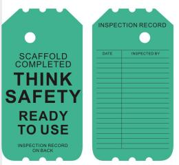 Variety of Durable General Pvc Safety Tags