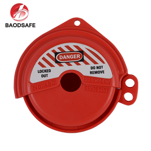 Red Safety Rotating Gate Valve Lockouts