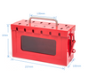 Safety Padlock Metal Lokcout Box Red