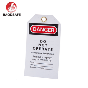 White Professional Durable Pvc Safety Tags