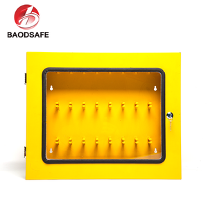 Yellow Safety Padlock Metal Lockout Station