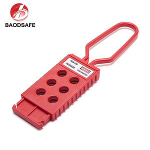 Industrial High Security Padlock Red Nylon Hasp Lockout
